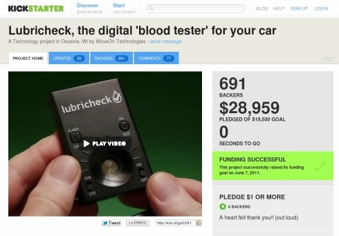 http://www.kickstarter.com/projects/308542211/lubricheck-the-digital-blood-tester-for-your-car