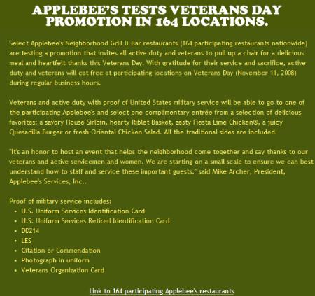http://www.applebees.com/VeteransDay.html