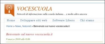 http://www.vocescuola.it/2010/03/09/benvenuto-sul-nuovo-vocescuola-it/