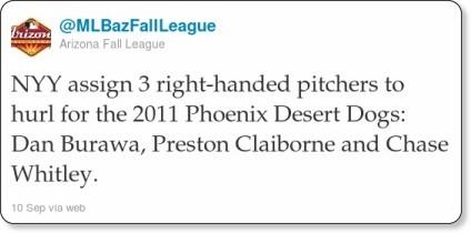 http://twitter.com/#!/MLBazFallLeague/statuses/112305914123526144