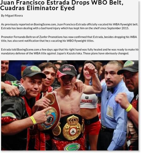 http://www.boxingscene.com/juan-francisco-estrada-drops-wbo-belt-cuadras-eliminator-eyed--108770