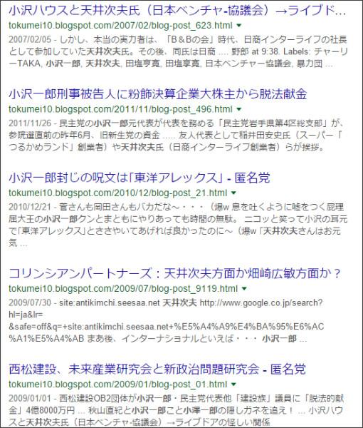 https://www.google.co.jp/#q=site:%2F%2Ftokumei10.blogspot.com+%E5%A4%A9%E4%BA%95%E6%AC%A1%E5%A4%AB%E3%80%80%E5%B0%8F%E6%B2%A2%E4%B8%80%E9%83%8E