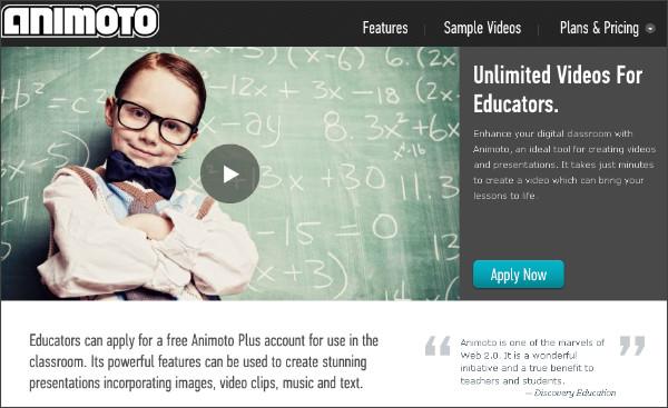 http://animoto.com/education/