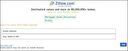http://mobile.zillow.com/