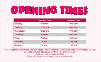 opening times for visions pool in cumnock kgb answers