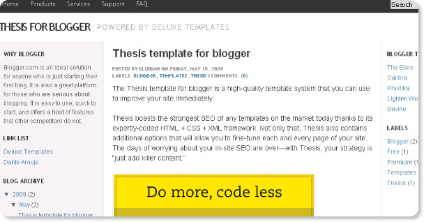 Thesis Best Blogger Template
