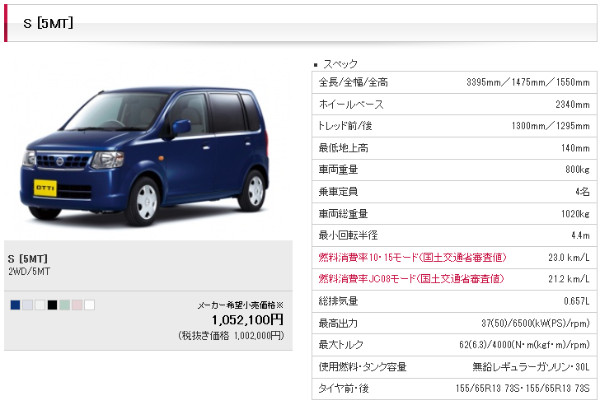 http://www2.nissan.co.jp/OTTI/h920809g01.html?gradeID=G01&model=OTTI