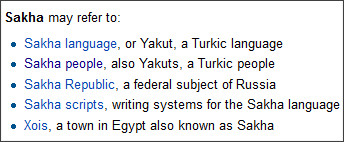 http://en.wikipedia.org/wiki/Sakha