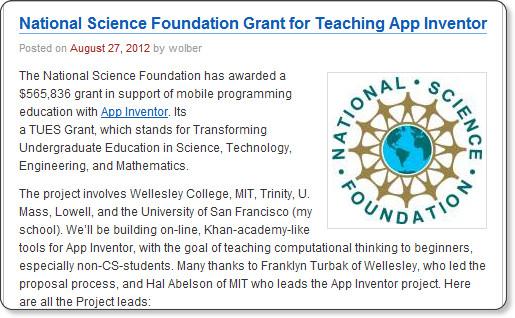App Inventorの教育活動に対する<b>アメリカ国立科学財団</b>の支援 | 日本App <b>...</b>