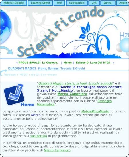 http://scientificando.splinder.com/post/24696596/quadrati-magici-storia-schemi-trucchi-e-giochi