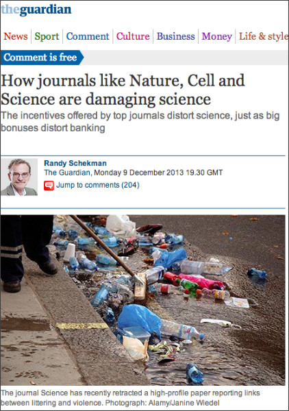 http://www.theguardian.com/commentisfree/2013/dec/09/how-journals-nature-science-cell-damage-science