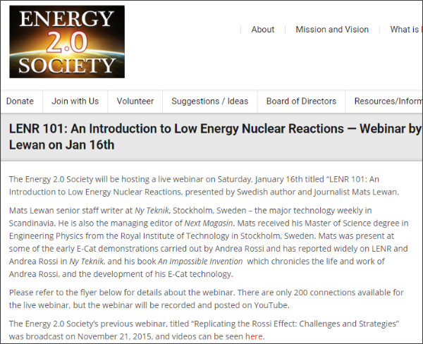 http://energy2point0.org/2016/01/06/lenr-101-an-introduction-to-low-energy-nuclear-reactions-webinar-by-mats-lewan-lenr/