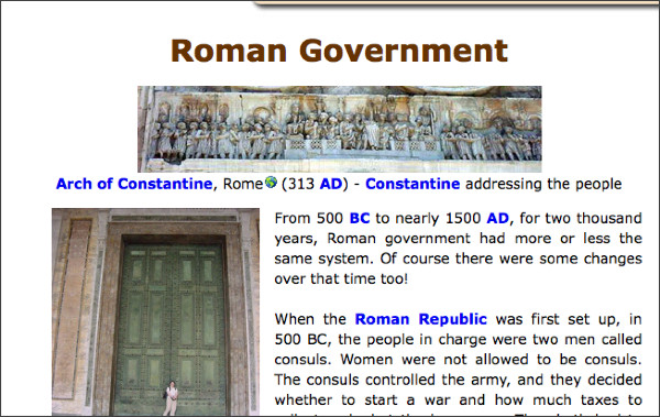 http://www.historyforkids.org/learn/romans/government/index.htm