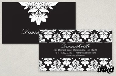 http://inkddesign.deviantart.com/art/Elegant-Damask-Business-Card-168430744
