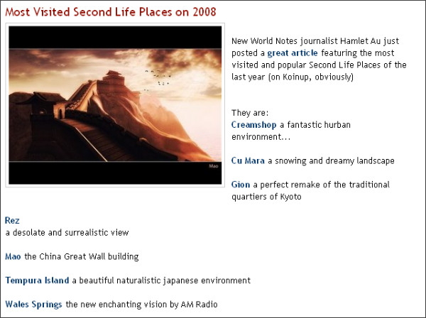 http://blog.koinup.com/2009/01/most-visited-second-life-places-on-2008.html