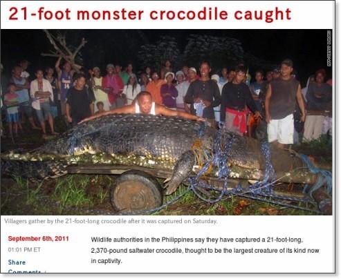 http://news.blogs.cnn.com/2011/09/06/21-foot-monster-crocodile-caught/
