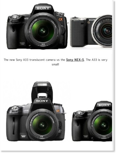 http://www.sonyalpharumors.com/sr5-exclusive-more-pictures-a55-vs-a33-vs-nex-5-vs-a550-vs-a350-size-comparison/