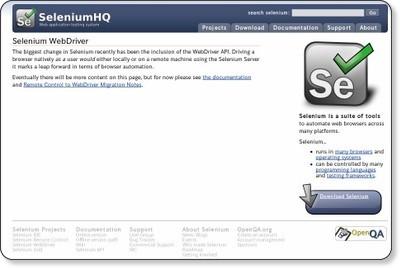 http://seleniumhq.org/projects/webdriver/