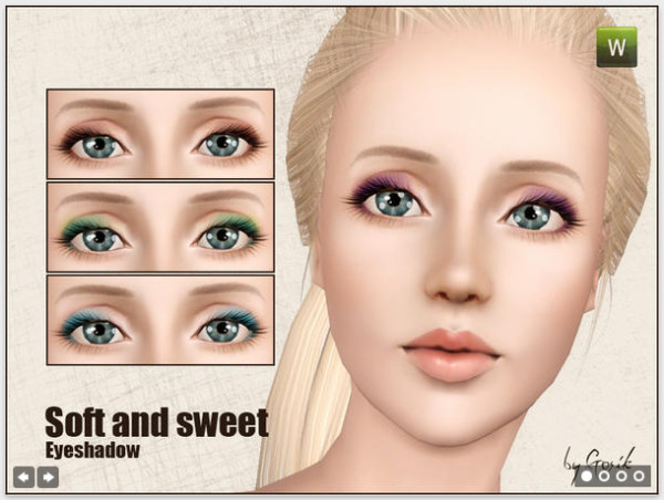 Empire Sims 3: Soft and sweet eyeshadow - by Gosik TSR