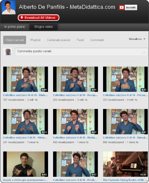 http://www.youtube.com/user/MetaDidattica?feature=watch
