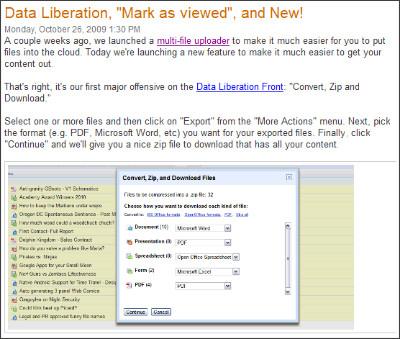http://googledocs.blogspot.com/2009/10/data-liberation-mark-as-viewed-and-new.html
