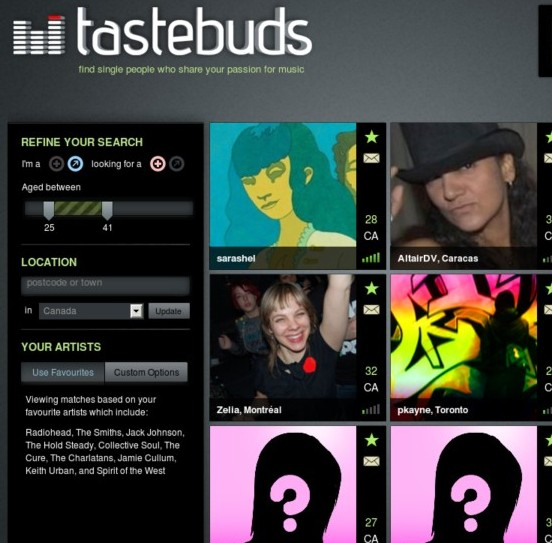 Tastebuds.fm dating sites usa