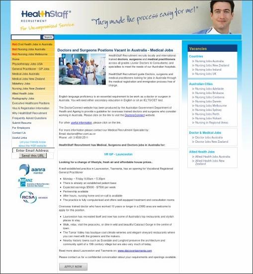 http://www.healthstaffrecruitment.com.au/medical-jobs-australia.php