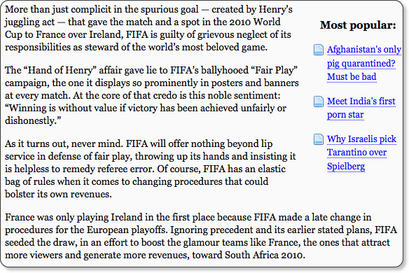 http://www.globalpost.com/dispatch/sports/091124/FIFA-sinking-integrity?page=0,0