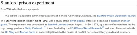 https://en.wikipedia.org/wiki/Stanford_prison_experiment