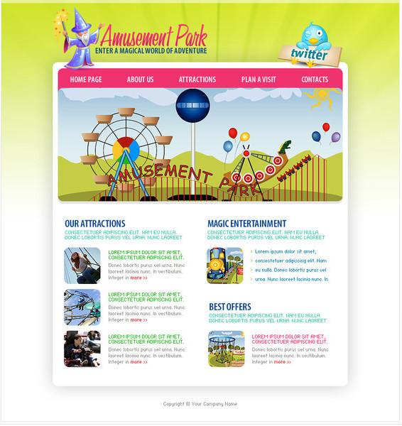 http://www.hottemplates.com/details/40/amusement-park-flash-template.html