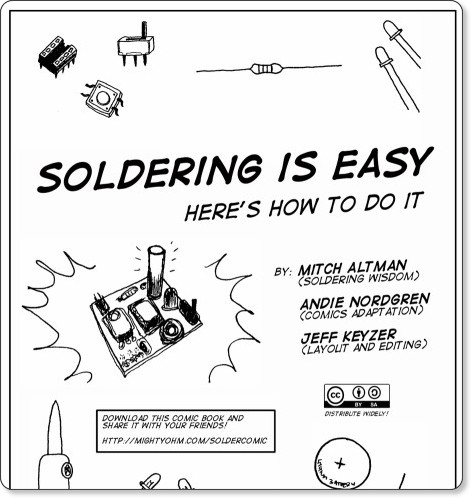 http://mightyohm.com/files/soldercomic/FullSolderComic_EN.pdf