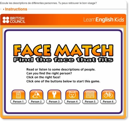 http://learnenglishkids.britishcouncil.org/fr/fun-games/face-match