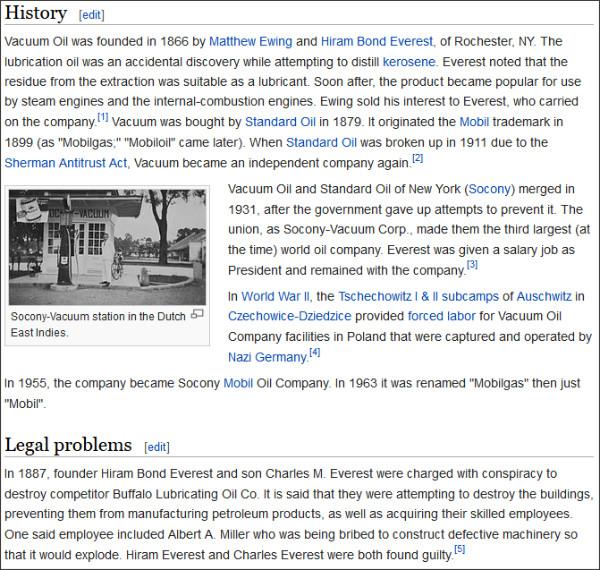 http://en.wikipedia.org/wiki/Vacuum_Oil_Company