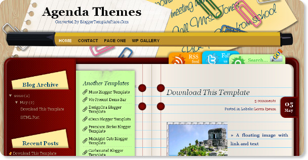 Best Writers Blogger Templates