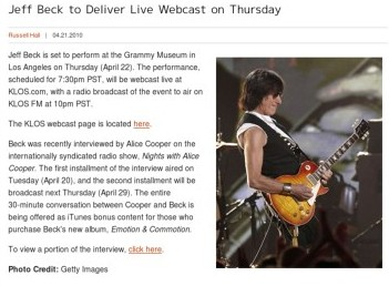 http://www.gibson.com/en-us/Lifestyle/News/jeff-beck-webcast-0421/