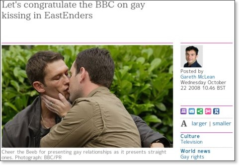 http://www.guardian.co.uk/culture/tvandradioblog/2008/oct/22/eastenders-gay-kissing