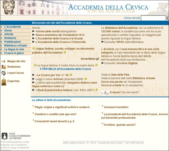 http://www.accademiadellacrusca.it/index.php
