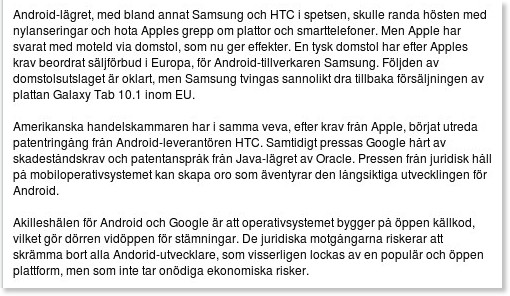 http://computersweden.idg.se/2.2683/1.397471/android-pa-vag-att-krackelera?utm_source=feedburner&utm_medium=feed&utm_campaign=Feed%3A+ComputerSweden20SenasteNyheter+%28CS%3A+Computer+Sweden+20+senaste+nyheter%29