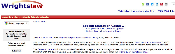 http://www.wrightslaw.com/caselaw.htm#supreme