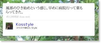 http://twitter.com/Kosstyle/statuses/963885619