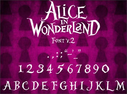 http://www.dafont.com/alice-in-wonderland.font