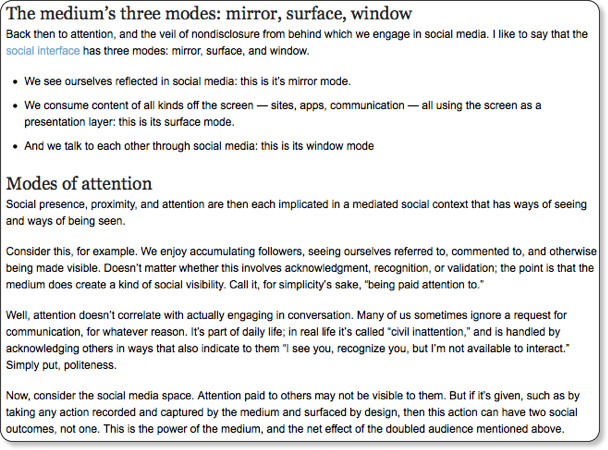 http://johnnyholland.org/2009/10/26/the-attention-economy-of-social-media/