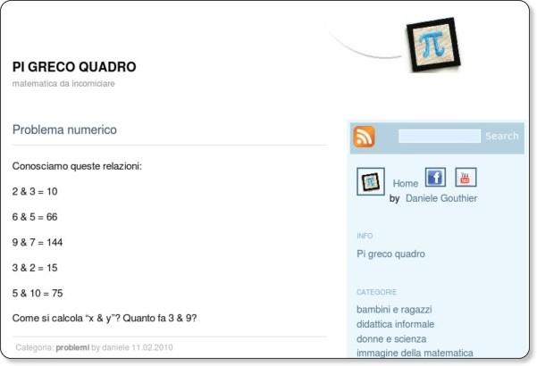 http://www.danielegouthier.it/pigrecoquadro/problema-numerico.html