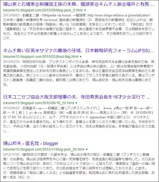 https://www.google.co.jp/search?ei=2UpKWqmeL8GkjQOtx6KYAw&q=site%3A%2F%2Ftokumei10.blogspot.com+%E7%9F%B3%E6%A9%8B%E6%AD%A3%E4%BA%8C%E9%83%8E&oq=site%3A%2F%2Ftokumei10.blogspot.com+%E7%9F%B3%E6%A9%8B%E6%AD%A3%E4%BA%8C%E9%83%8E&gs_l=psy-ab.3...0.0.1.158.0.0.0.0.0.0.0.0..0.0....0...1c..64.psy-ab..0.0.0....0.yIBnD2nS3z8