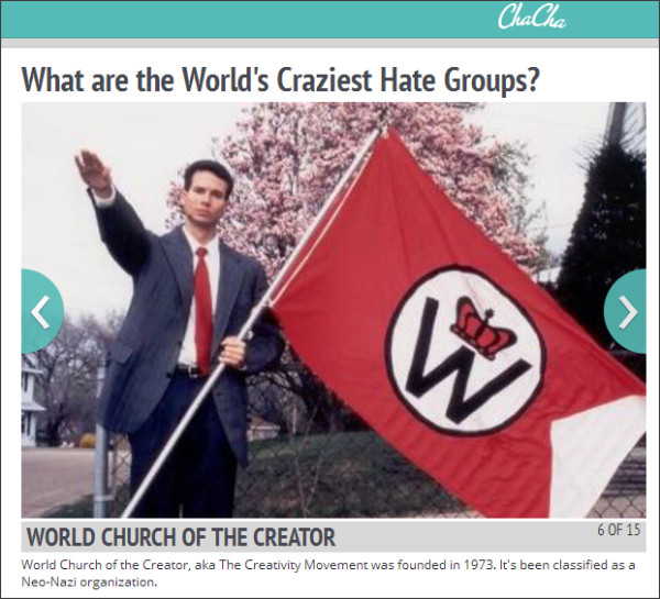 http://www.chacha.com/gallery/6648/what-are-the-world-s-craziest-hate-groups/69387