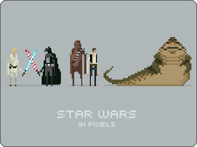 http://dribbble.com/shots/158372-Star-Wars-Pixel-Lineup