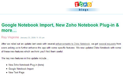 http://blogs.zoho.com/notebook/google-notebook-import-new-zoho-notebook-plug-in-more/