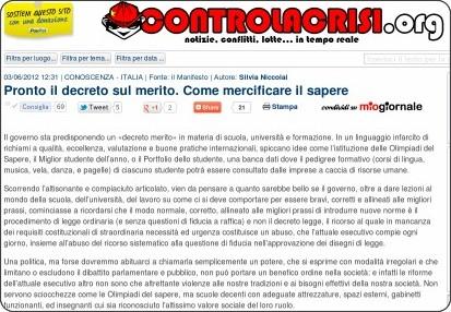 http://www.controlacrisi.org/notizia/Conoscenza/2012/6/3/23147-pronto-il-decreto-sul-merito-come-mercificare-il-sapere/#.T8vZLo95hfg.twitter