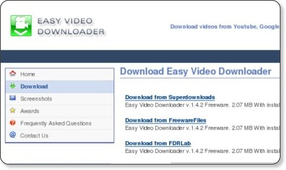 http://www.videodownloader.fdrlab.com/download.html