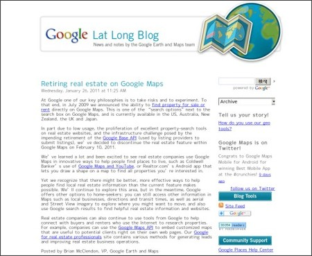 http://google-latlong.blogspot.com/2011/01/retiring-real-estate-on-google-maps.html